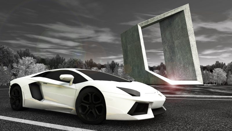 Lamborghini Road Monument
